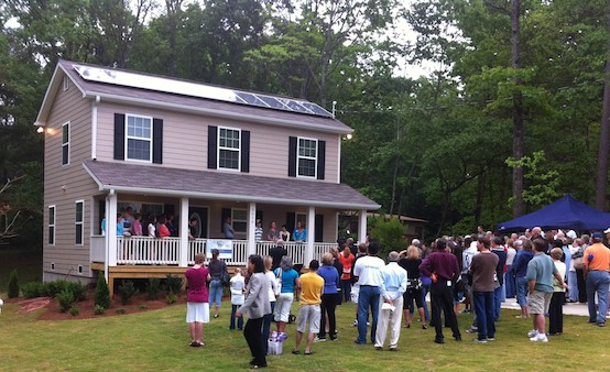 Radiance Solar Installs Habitat for Humanity's First Solar Array on Home in Forsyth Family