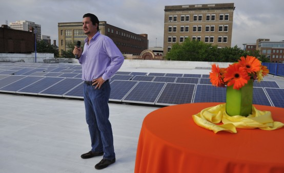 Damaste Real Estate of Macon, GA. Installs Rooftop Solar Array
